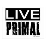 live primal / paleo diet postcard