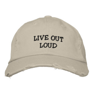 Live proudly embroidered baseball caps