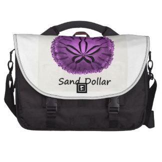 Live Purple Sand Dollar Laptop Bags