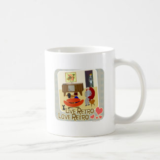 Live Retro Love Retro Slogan Coffee Mug