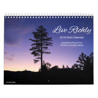 Live Richly...2016 Inspirational Calendar