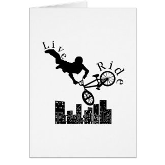 Live, Ride, Freestyle Greeting Card