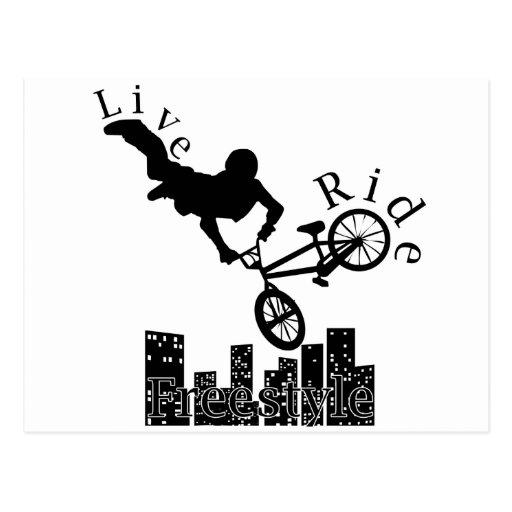 Live, Ride, Freestyle Postcard