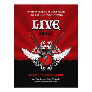 Live Rock Music Concert / Party flyer