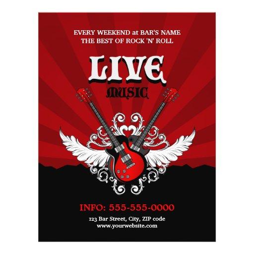 Live Rock Music Concert / Party flyer