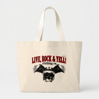 LIVE. ROCK. YELL! official logo merch Canvas Bags
