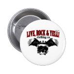 LIVE. ROCK. YELL! official logo merch Buttons