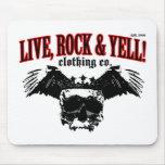 LIVE. ROCK. YELL! official logo merch Mousepad