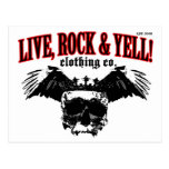 LIVE. ROCK. YELL! official logo merch Post Cards