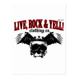 LIVE. ROCK. YELL! official logo merch Postcards