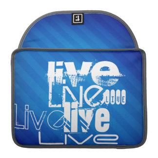 Live; Royal Blue Stripes MacBook Pro Sleeves