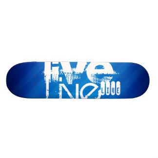 Live; Royal Blue Stripes Skate Board Deck