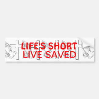 Live Saved Bumper Sticker
