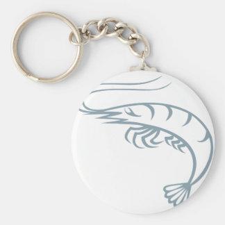 Live Shrimp Basic Round Button Keychain
