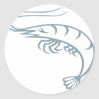 Live Shrimp Classic Round Sticker