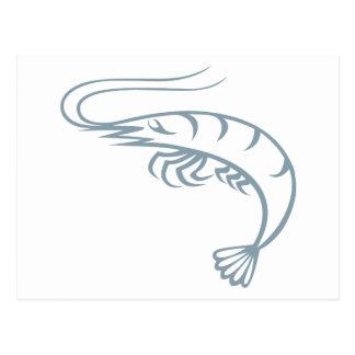Live Shrimp Postcard