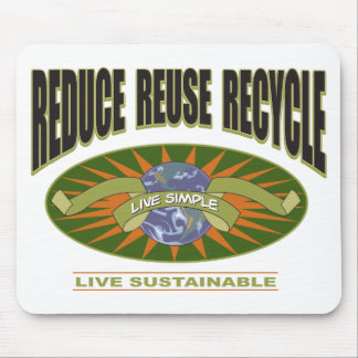 Live Simple Live Sustainable Mouse Pad