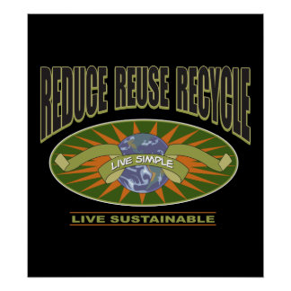 Live Simple Live Sustainable Poster