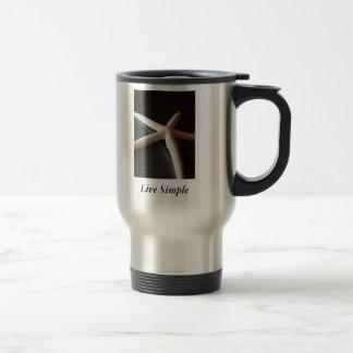 Live Simple ~ Starfish Travel Mug