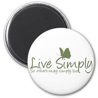 Live Simply 2 Inch Round Magnet