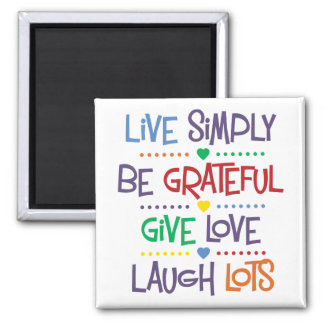Live Simply 2 Inch Square Magnet