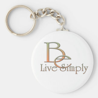 Live Simply Basic Round Button Keychain