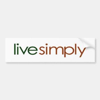 Live Simply Car Bumper Sticker