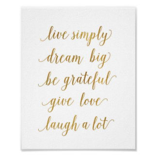 live simply dream big Art Print