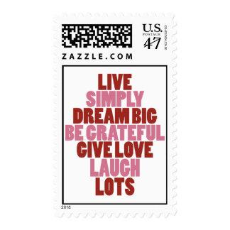 LIVE SIMPLY ♥ DREAM BIG POSTAGE