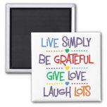 Live Simply Fridge Magnets