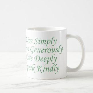 Live Simply green Coffee Mug