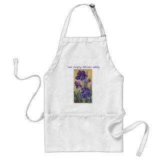 Live Simply Inspiration Iris Watercolor Art Apron