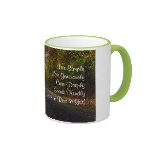 Live Simply Inspirational Mug