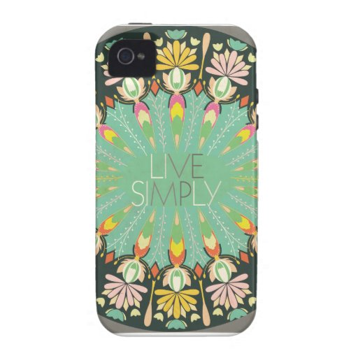 Live Simply iPhone Case Case-Mate iPhone 4 Cover
