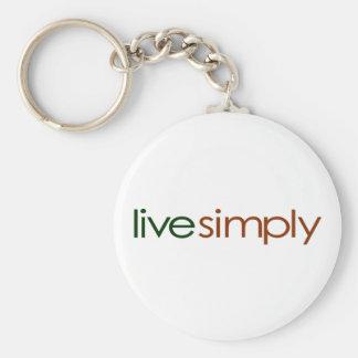 Live Simply Keychain