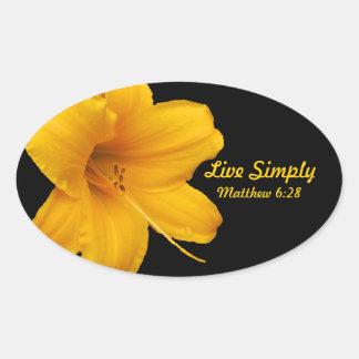 Live Simply Lily Sticker