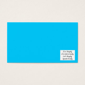 LIVE SIMPLY LOVE GENEROUSLY CARE DEEPLY SPEAK KIND BUSINESS CARD