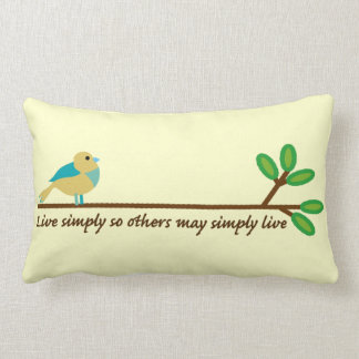Live Simply Lumbar Pillow