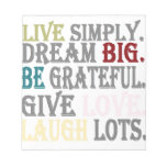 Live Simply Memo Notepads