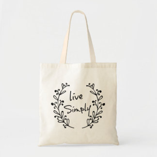 Live Simply Natural Cotton Tote Bag