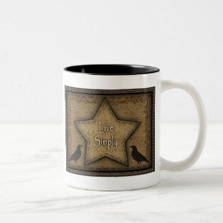 Live Simply Primitive Mug (sm)