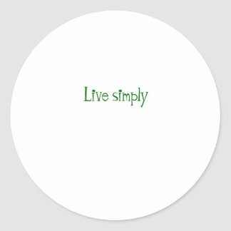 Live Simply Round Sticker
