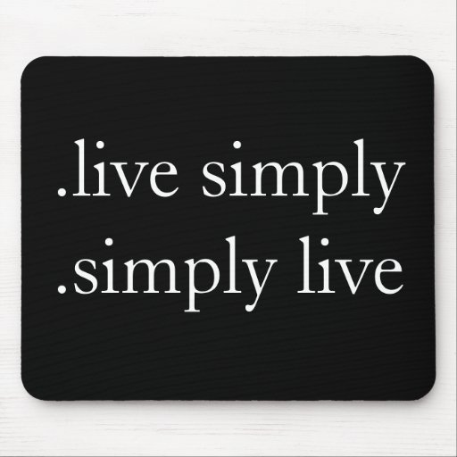 .live simply .simply live mousepad