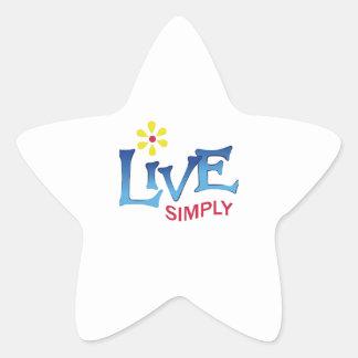 LIVE SIMPLY STAR STICKER