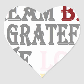 Live Simply Heart Sticker