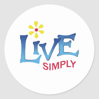 LIVE SIMPLY CLASSIC ROUND STICKER
