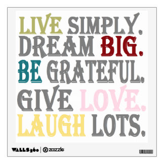 Live Simply Wall Decal