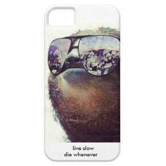 Live slow die to whenever Sloth Edition iPhone SE/5/5s Case