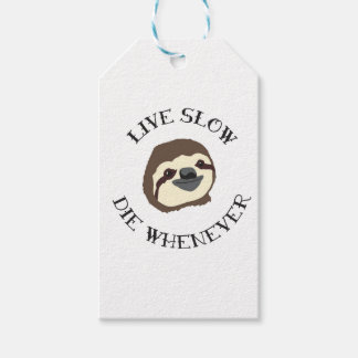 LIVE SLOW DIE WHENEVER GIFT TAGS