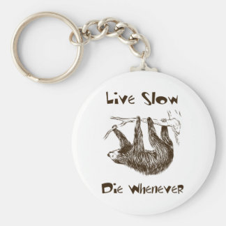 Live Slow. Die Whenever Keychain